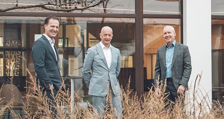 From left to right: Steven De Haes, Ludo Wijckmans and Wim Vochten